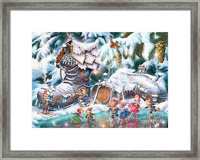 Sami Leprechauns Framed Print by Zorina Baldescu
