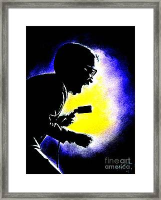 Sammy David Jr Singing His Heart Out Framed Print
