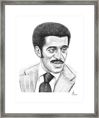 Sammy Davis Jr Framed Print by Murphy Elliott