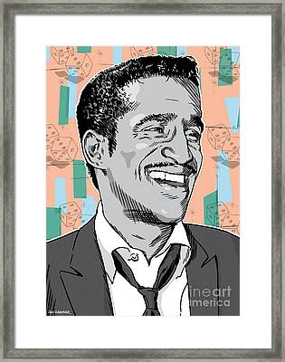 Sammy Davis Jr Pop Art Framed Print