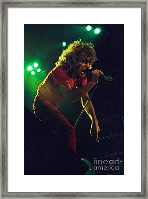 Sammy Hagar New Years Eve At The Cow Palace 12-31-78 Framed Print