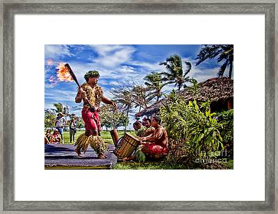 Samoan Torch Bearer Framed Print by David Smith