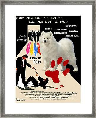 Samoyed Art Canvas Print - Reservoir Dogs Movie Poster Framed Print by Sandra Sij