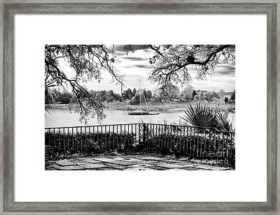 Sampit River View Framed Print by John Rizzuto