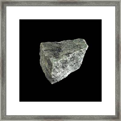 Sample Of Gneiss Framed Print by Science Photo Library