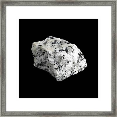 Sample Of Granite Framed Print by Science Photo Library