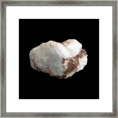 Sample Of Gypsum Framed Print by Science Photo Library