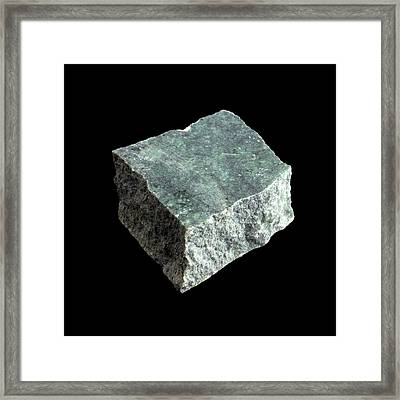Sample Of Serpentine Framed Print by Science Photo Library