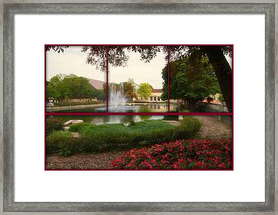 Sample Paneled Formal Pond At Brookfield Zoo Framed Print