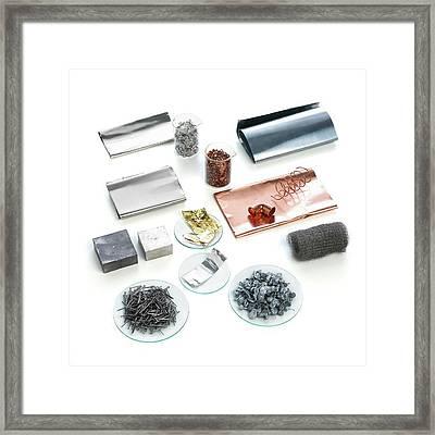 Samples Of Transition Metals Framed Print
