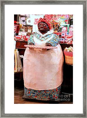 Sampling Store Goodies Framed Print by Kathy  White