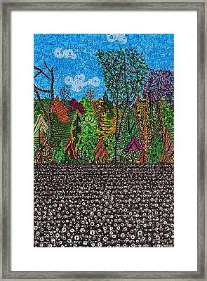 Sampson County Cotton Field Framed Print by Micah Mullen
