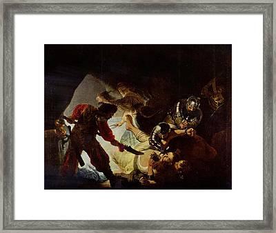 Samson And Delilah Framed Print