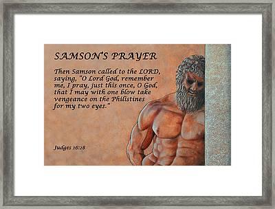 Samson's Prayer Framed Print