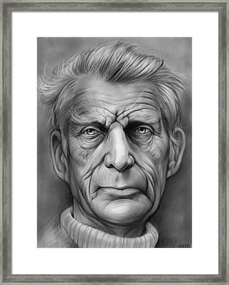 Samuel Beckett Framed Print by Greg Joens