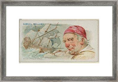 Samuel Bellamy, Wreck Of The Whydah Framed Print by Allen & Ginter