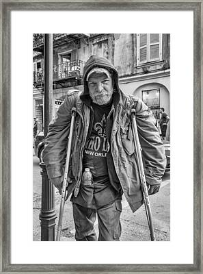 Samuel Bw Framed Print by Steve Harrington