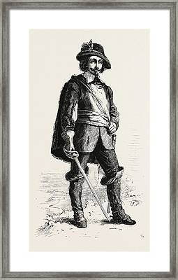 Samuel Champlain On Or Before August 13, 1574, A French Framed Print by Canadian School