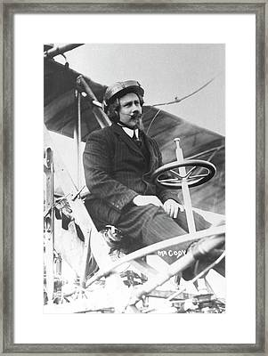 Samuel Franklin Cody In His Biplane Framed Print by Universal History Archive/uig