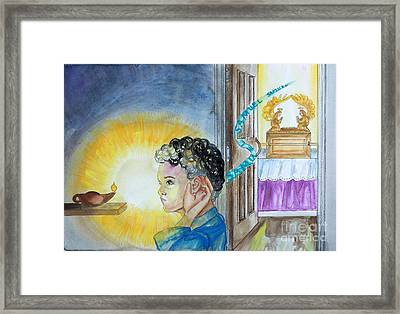 Samuel Hears The Lord Framed Print