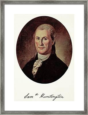 Samuel Huntington (1731-1796) Framed Print by Granger