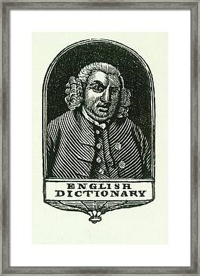 Samuel Johnson Framed Print by British Library