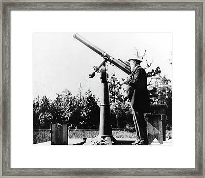Samuel Langley Framed Print by Emilio Segre Visual Archives/american Institute Of Physics