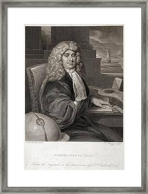 Samuel Pepys Framed Print by British Library