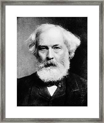 Samuel Wilks Framed Print by National Library Of Medicine