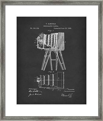 Samuels Photographic Camera 1885 Patent Art Black Framed Print by Prior Art Design