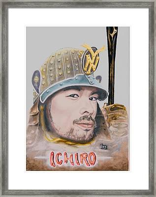 Samurai Ichiro Framed Print by Bas Van Sloten