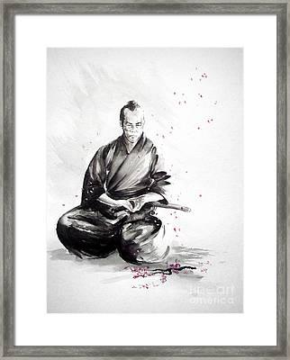 Samurai Warrior Japanese Martial Arts. Bushido. Framed Print by Mariusz Szmerdt