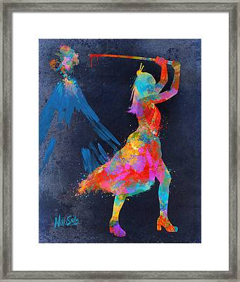 Samurai Girl Way Of The Warrior Framed Print by Nikki Marie Smith