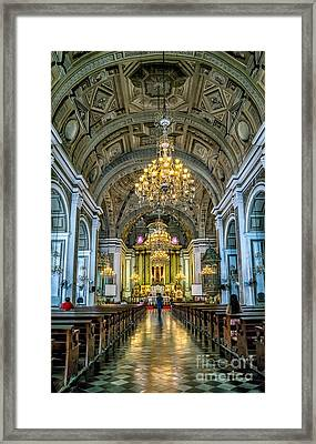 San Agustin Church  Framed Print by Adrian Evans