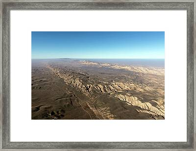 San Andreas Fault Framed Print by The Jon B. Lovelace Collection Of California Photographs In Carol M. Highsmith's America Project, Library Of Congress