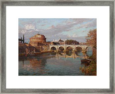 San-angelo Castle Framed Print by Korobkin Anatoly