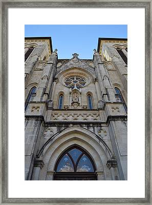 San Antonio Church 02 Framed Print by Shawn Marlow