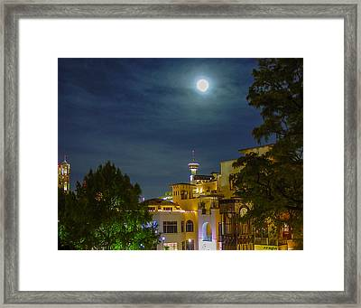 San Antonio Cityscape Framed Print by Allen Sheffield