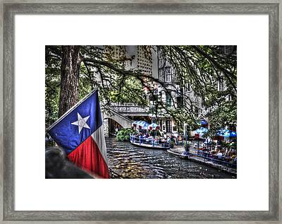 San Antonio Flag Framed Print