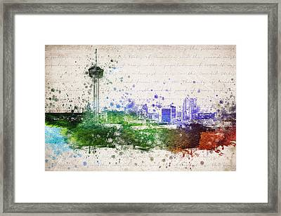 San Antonio In Color Framed Print