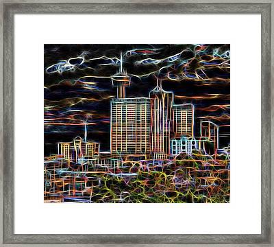 San Antonio Lights The Night Framed Print by Wendy J St Christopher