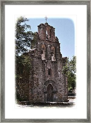 San Antonio Mission Framed Print by Kathy Williams-Walkup