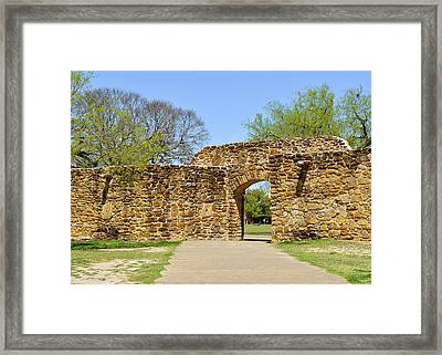 San Antonio Mission San Jose Framed Print by Christine Till