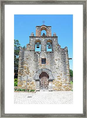 San Antonio Missions National Historical Park Mission Espada Facade Exterior Framed Print