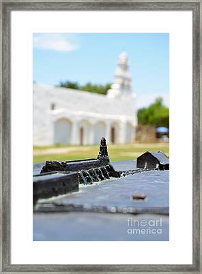 San Antonio Missions National Historical Park Mission San Juan Exterior And Bronze Diorama Framed Print by Shawn O'Brien