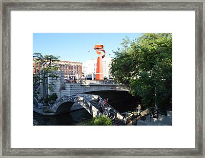 San Antonio River 01 Framed Print by Shawn Marlow