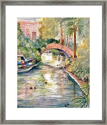 San Antonio Riverwalk Framed Print