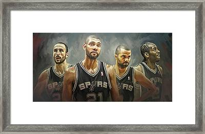 San Antonio Spurs Artwork Framed Print by Sheraz A