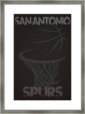 San Antonio Spurs Hoop Framed Print by Joe Hamilton