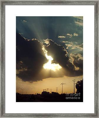 San Antonio Sunset Framed Print by Peter Piatt